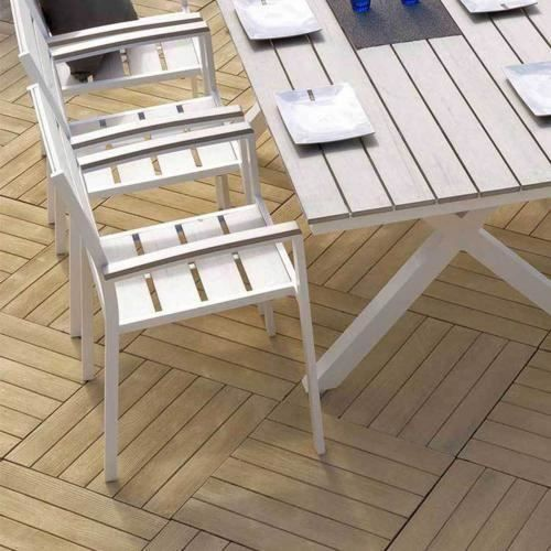 Fauteuil de jardin cavalaire blanc bois flotte achat - Chaise bois flotte ...