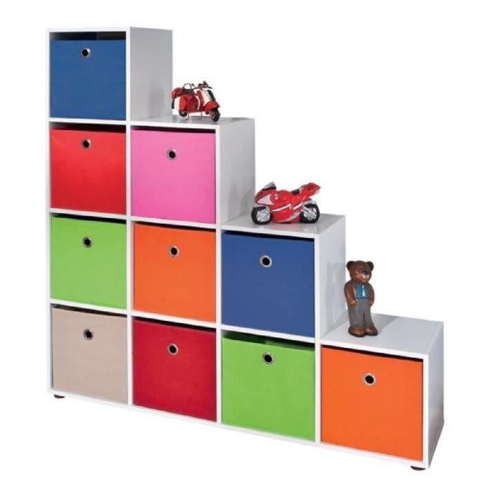 Paris prix meuble de rangement 10 compartiments kase - Meuble rangement bibliotheque ...