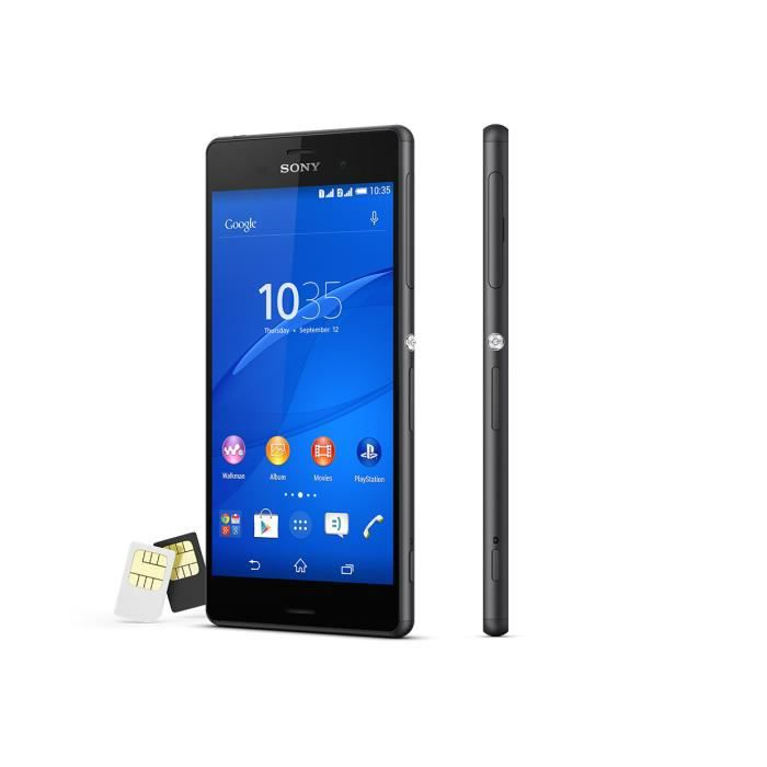 sony xperia z3 double sim achat smartphone pas cher. Black Bedroom Furniture Sets. Home Design Ideas