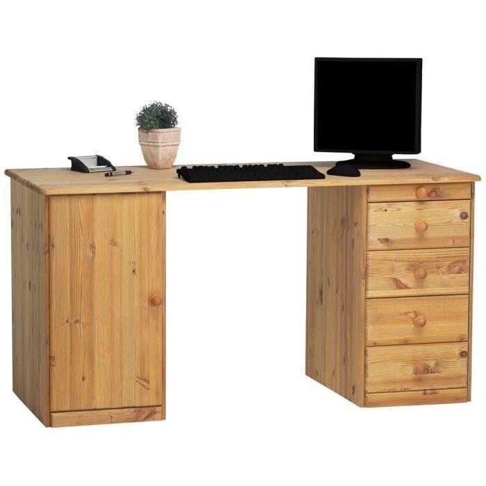 bureau ministre plumier en pin matheo miel achat vente bureau bureau ministre plumier en. Black Bedroom Furniture Sets. Home Design Ideas