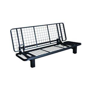 lit banquette en metal convertible achat vente lit banquette en metal convertible pas cher. Black Bedroom Furniture Sets. Home Design Ideas