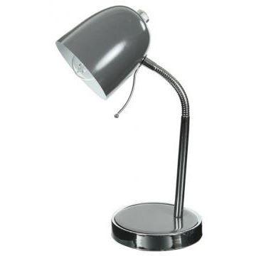 Lampe De Bureau En M Tal Gris Achat Vente Lampe De