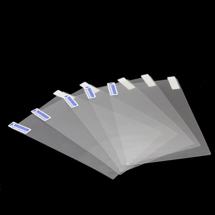 5x films en plastique transparent protection cran anti rayures pr 7 pouces tablette prix pas. Black Bedroom Furniture Sets. Home Design Ideas