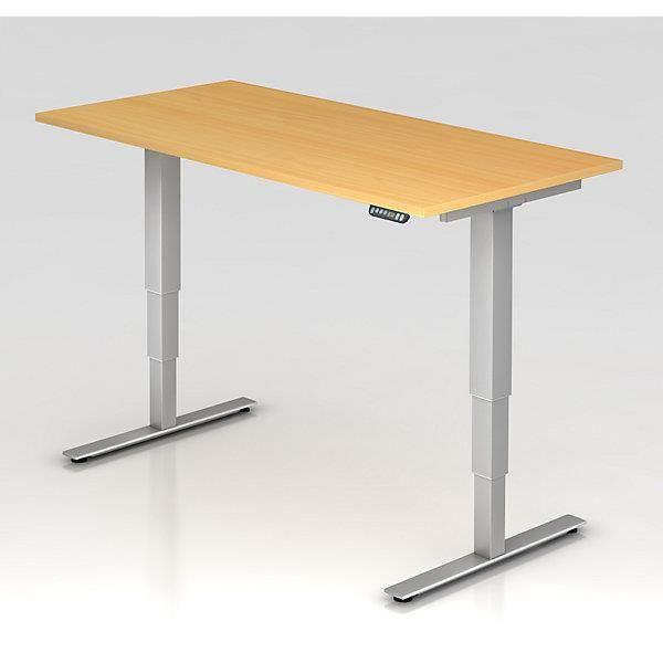 upliner 2 0 bureau sur pieds pi tement en t largeur 1600 mm fa on h tre bureau bureau d. Black Bedroom Furniture Sets. Home Design Ideas