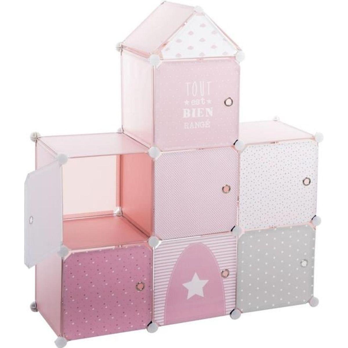 meuble de rangement chateau rose achat vente petit rangement 3560238909850 soldes cdiscount. Black Bedroom Furniture Sets. Home Design Ideas
