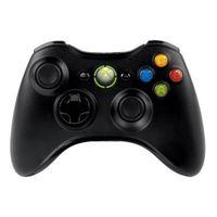MANETTE CONSOLE Manette sans fil noire Xbox 360