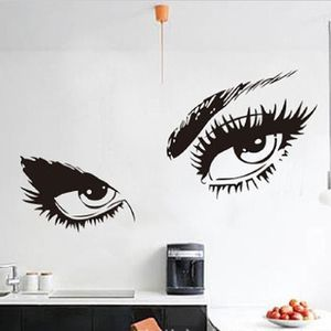 Sexy yeux wallpaper accueil chambre wall sticker d cor art for Decoration yeux