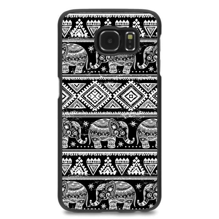 telephonie accessoires portable gsm coque samsung galaxy s elephant et azteque f  auc