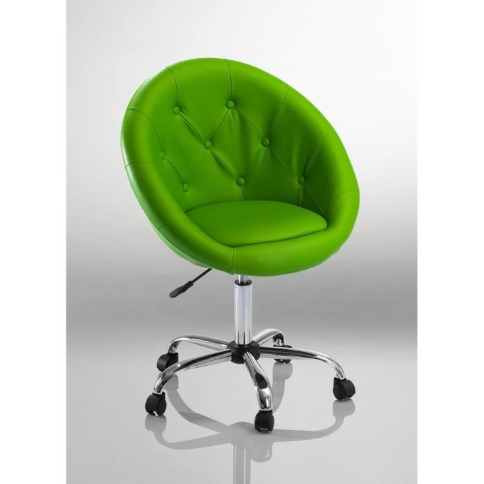 Tabouret Chaise fauteuil bureau Roulette vert - Achat / Vente fauteuil ...