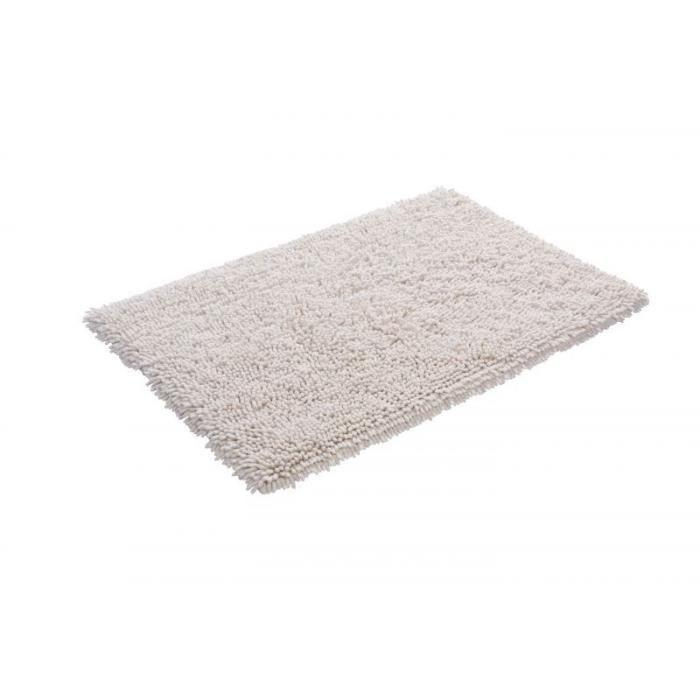 tapis de salle bain 60 x 90 cm 100 coton organique couleur blanc cr me achat vente tapis de. Black Bedroom Furniture Sets. Home Design Ideas