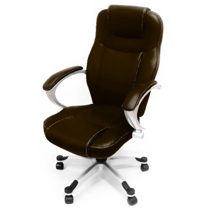 fauteuil de bureau 40 marron achat vente chaise de bureau cdiscount