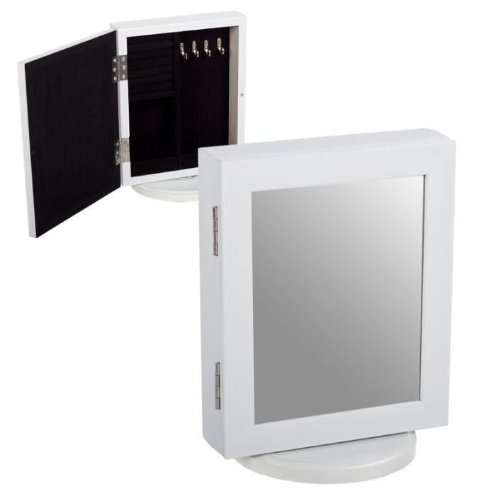 Armoire bijoutier avec miroir 28 cm achat vente boite - Miroir avec rangement bijoux ...