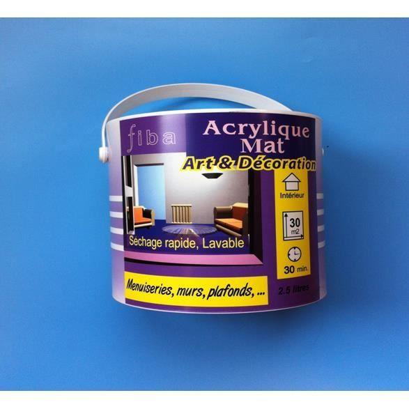 Peinture mat acrylique fibaline 2 5 l achat vente peinture vernis cdiscount - Vernis sur peinture acrylique ...