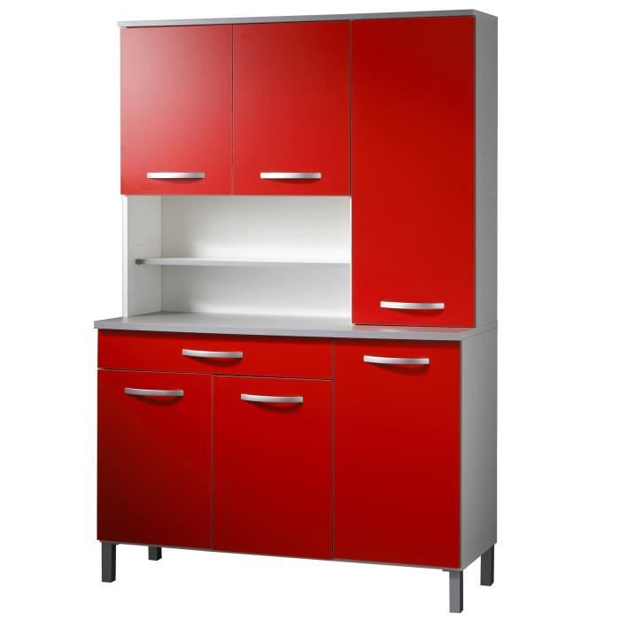 harmony buffet de cuisine 120 cm rouge achat vente. Black Bedroom Furniture Sets. Home Design Ideas