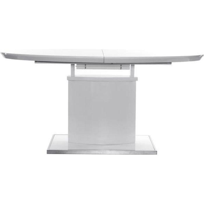 miliboo table manger design extensible 160 achat. Black Bedroom Furniture Sets. Home Design Ideas