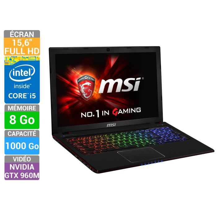 msi pc portable gamer ge60 2qe apache pro 1004xfr 9s7. Black Bedroom Furniture Sets. Home Design Ideas
