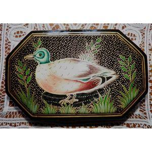 Boite en papier mache achat vente boite en papier mache pas cher soldes d hiver d s le - Canard decoration accessoire ...