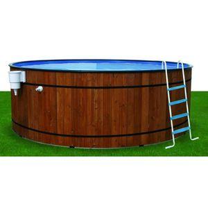 Piscine bois acier barrica 350x120 cm achat vente piscine piscine barrica 350x120 cm cdiscount for Achat piscine acier