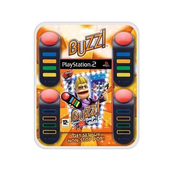 JEUX PS2 BUZZ POP QUIZZ + BUZZERS / JEU CONSOLE PS2