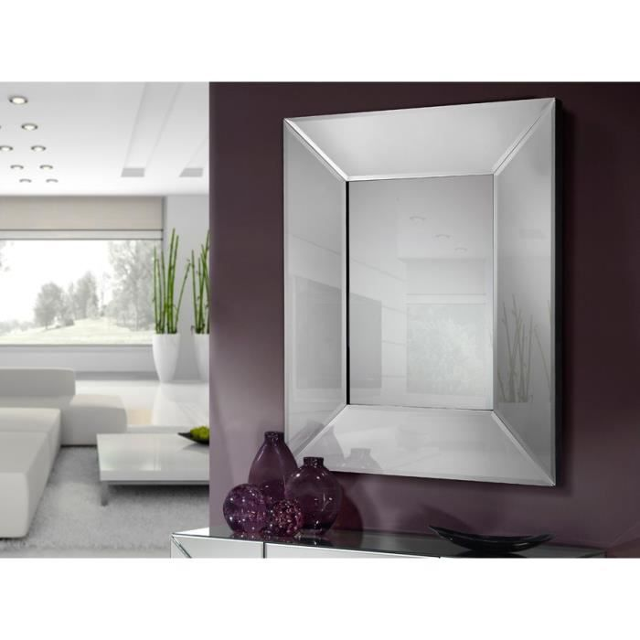 miroirs en verre modernes mod le milan rectangulaire. Black Bedroom Furniture Sets. Home Design Ideas