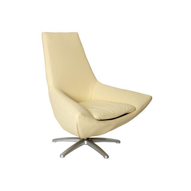 Fauteuil moderne pivotant bresil beige achat vente fauteuil mati re de la structure bois - Moderne fauteuil ...