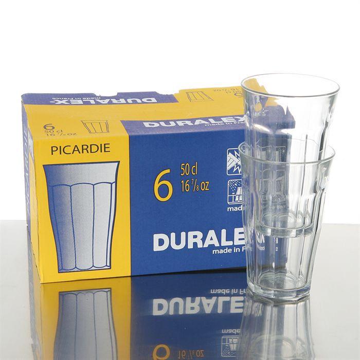 duralex lot de 6 verres 50 cl picardie achat vente verre eau soda cdiscount. Black Bedroom Furniture Sets. Home Design Ideas