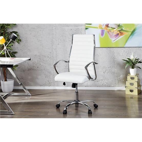 chaise de bureau yeniwest blanc a l 39 unit achat vente. Black Bedroom Furniture Sets. Home Design Ideas