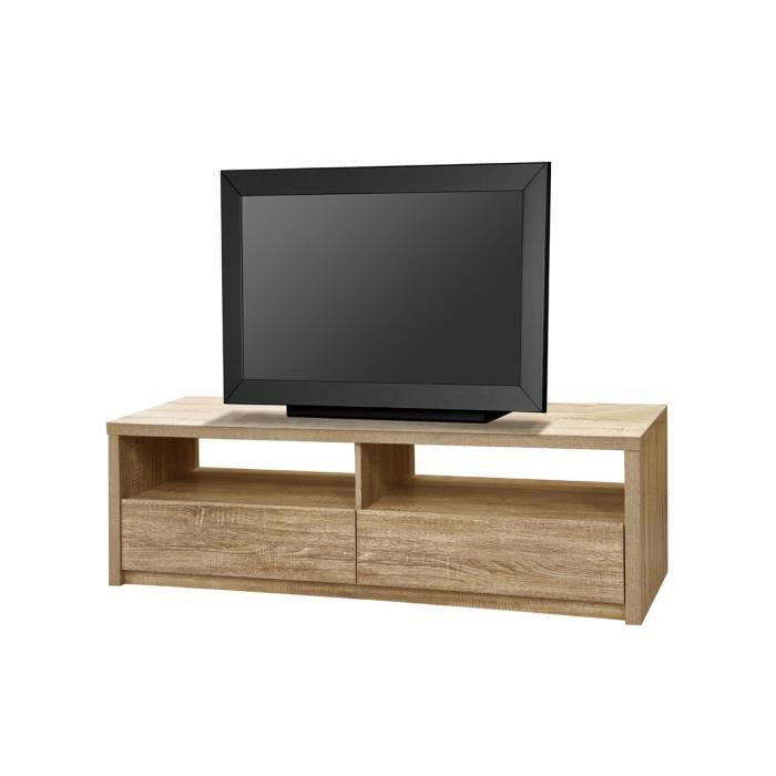 meuble tv ch ne naturel clovis achat vente meuble tv