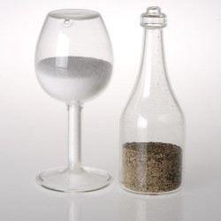 sel et poivre verre bouteille en verre achat vente saliere poivriere cdiscount. Black Bedroom Furniture Sets. Home Design Ideas