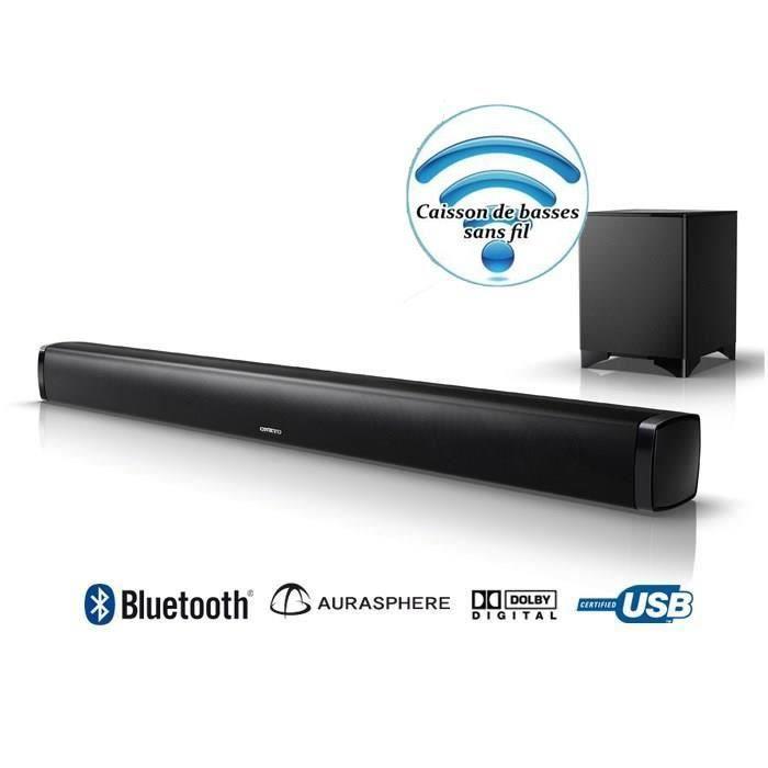 onkyo ls b50 noir barre de son bluetooth barre de son. Black Bedroom Furniture Sets. Home Design Ideas