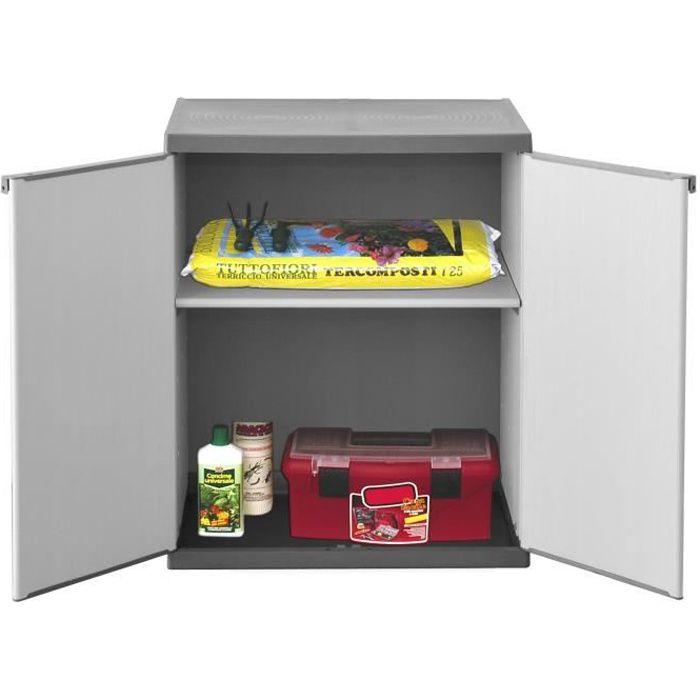 Sogenex armoire de rangement basse en r sine 1 tablette achat vente etabl - Cdiscount armoire de rangement ...