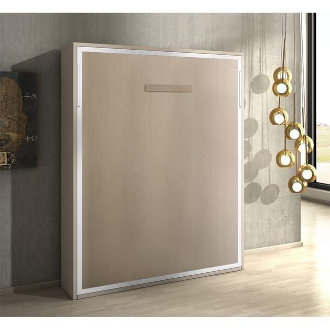Armoire lit escamotable joy ch ne c rus 160x200 achat for Armoire avec table escamotable