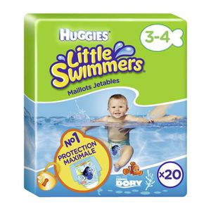 COUCHE HUGGIES Maxi Pack Little Swimmers - Taille 3-4 - 2