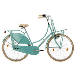 """VÉLO DE VILLE - PLAGE Vélo hollandais 28"""" Tussaud 3 vitesses menthe avec"""