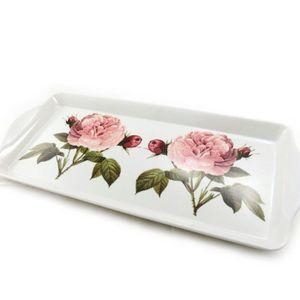 Plateau jardin des plantes rose blanc achat vente for Plateau pour table de jardin