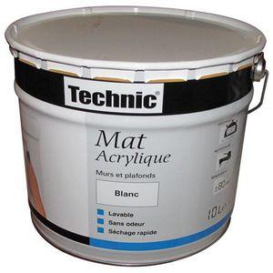 peinture acrylique blanc mat pas cher resine de protection pour peinture. Black Bedroom Furniture Sets. Home Design Ideas