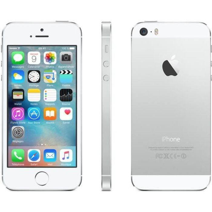 iphone 5s 32gb argent reconditionn neuf achat. Black Bedroom Furniture Sets. Home Design Ideas