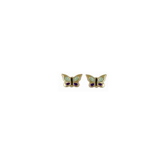 boucle d 39 oreille enfant papillon en or 18 carats achat vente boucle d 39 oreille boucle d. Black Bedroom Furniture Sets. Home Design Ideas