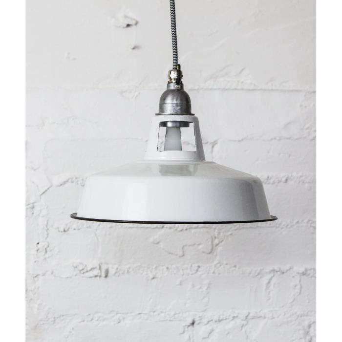 Farsley lampe suspension en mail craie de douvres for Suspension noir et blanc