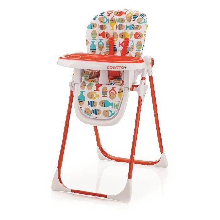 cosatto chaise haute noodle supa the yokels blanc orange et bleu achat vente chaise haute. Black Bedroom Furniture Sets. Home Design Ideas