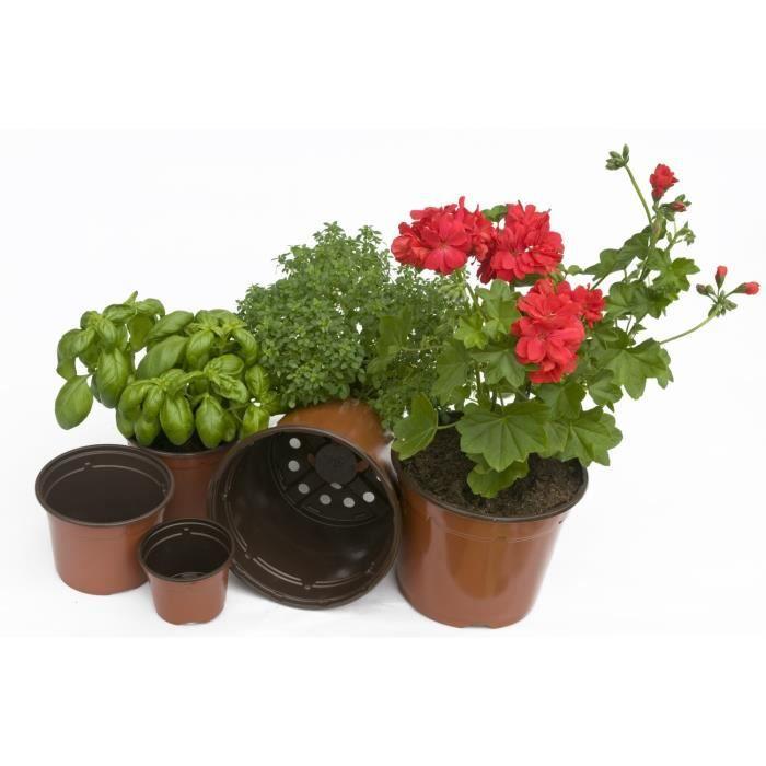 Filet de 12 pots plastiques de 9cm achat vente godet - Filet plastique jardin ...