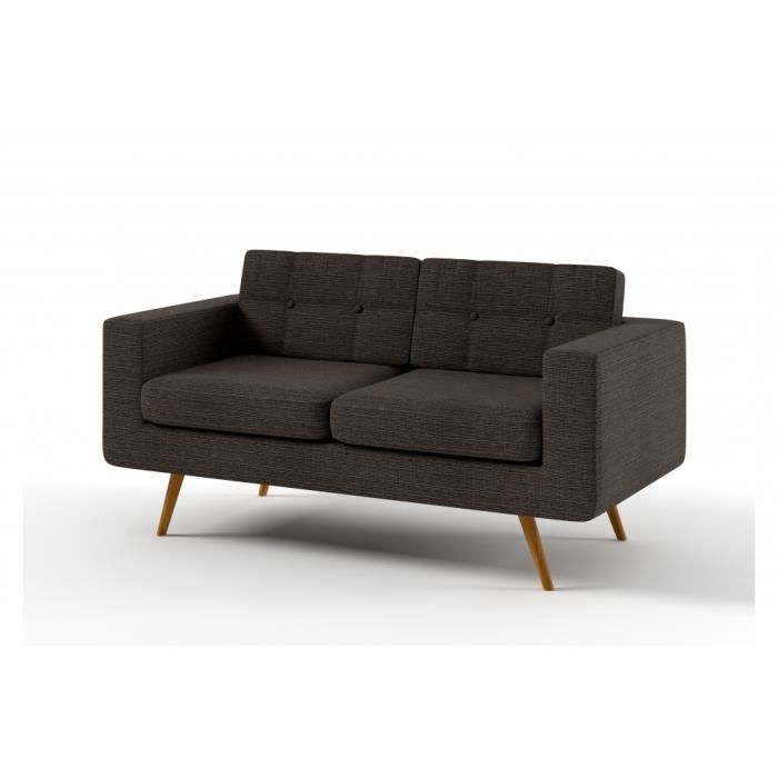 Canap 3 places en tissu de qualit yvon achat vente canap sofa div - Canape d angle de qualite ...