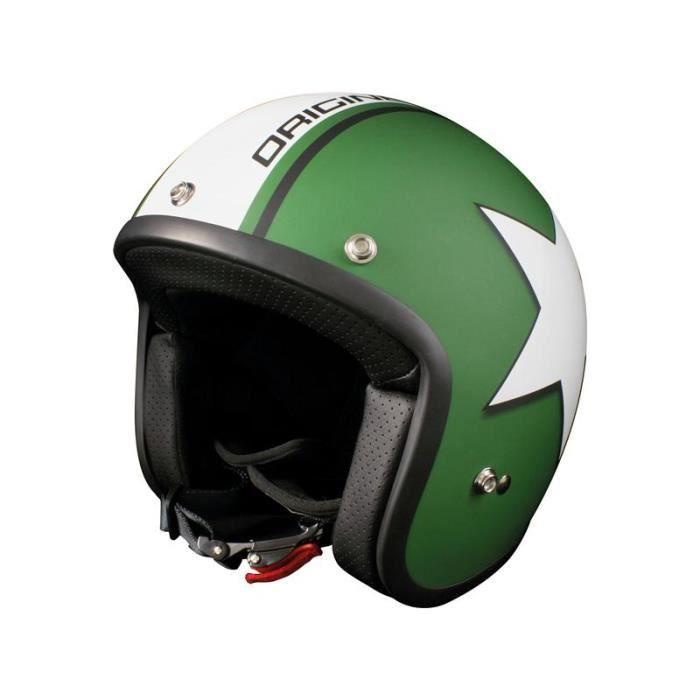 casque moto origine primo astro vert mat blanc achat vente casque moto scooter casque moto. Black Bedroom Furniture Sets. Home Design Ideas