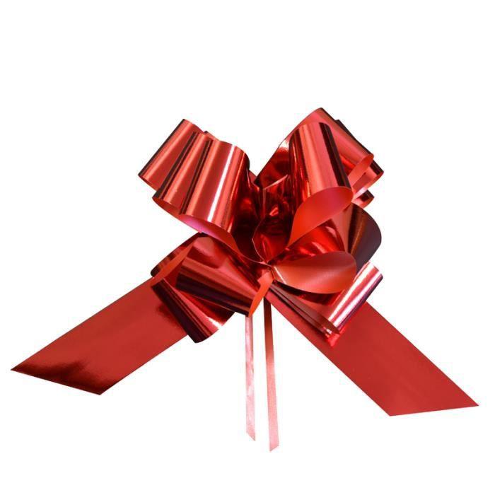 sachet de 5 noeuds a tirer 50 mm rouge achat vente ruban cadeau bolduc sachet de 5 noeuds. Black Bedroom Furniture Sets. Home Design Ideas
