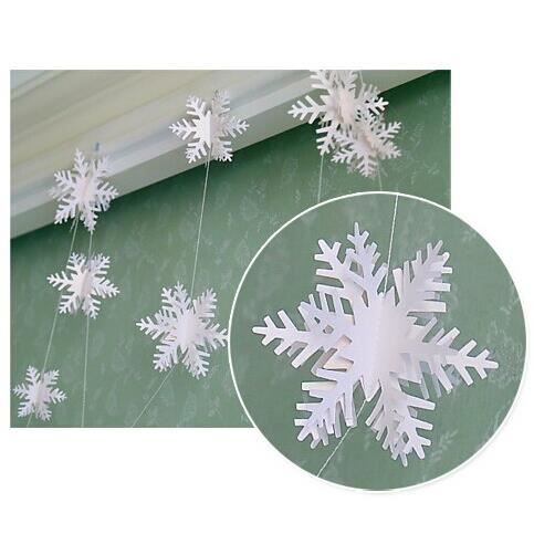 sunbeauty 2pcs papier de flocon de neige guirlandes. Black Bedroom Furniture Sets. Home Design Ideas