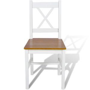 Chaises de cuisine blanc achat vente chaises de for Chaises salle a manger et cuisine