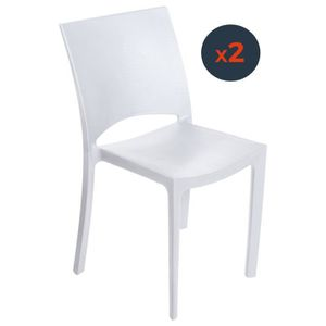 CHAISE Chaise polypropylène blanche COCCO