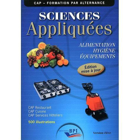 Sciences appliqu es l 39 hygi ne l 39 alimentation achat for Sciences appliquees cap cuisine