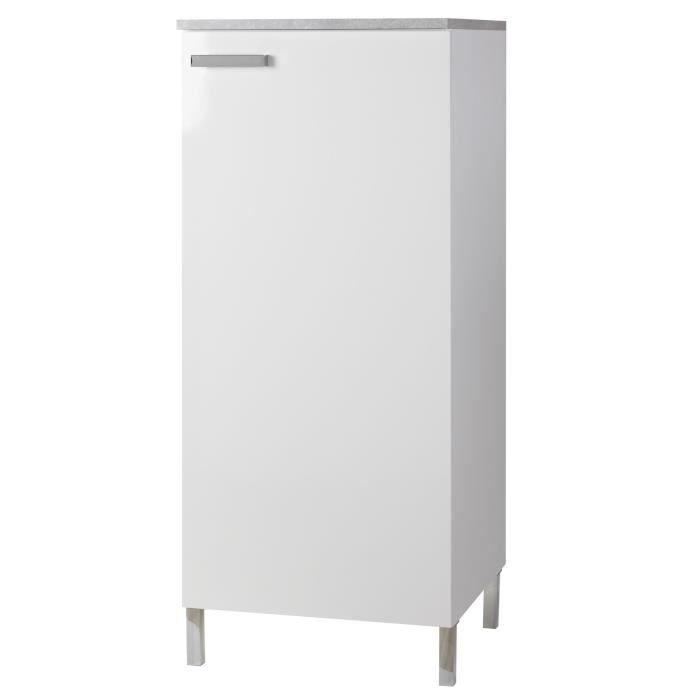 Vertigo armoire de cuisine blanche 60x140cm achat for Element armoire cuisine