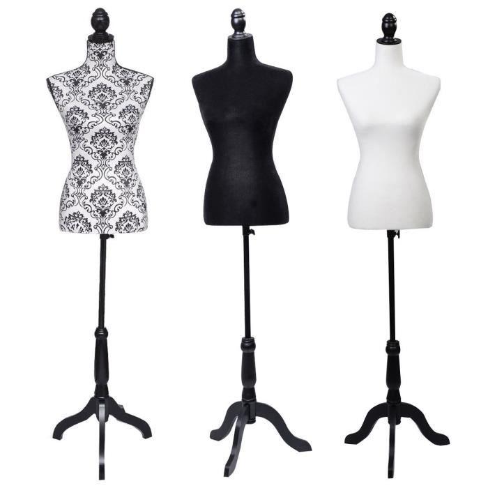 mannequin buste noir achat vente mannequin buste mannequin buste noir cdiscount. Black Bedroom Furniture Sets. Home Design Ideas